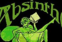 ABSINTHE / I'm fascinated with this drink..made of WORMWOOD? And I LOVE the COLOR and ritual of it..