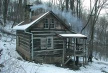 Cabin Inspiration / Daydreams of having a cute little log cabin in the woods.