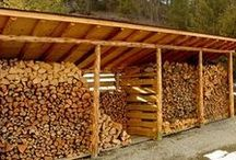 Wood Shed Design and Firewood Storage / Ideas for storing firewood to keep it dry and out of the elements.