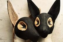 my menagerie / handmade animal sculptures
