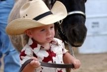 Cowpokes & Horses ♥ / Lil' Cowgirls & Cowboys always melt my hearts & I'm such a horse lover! / by Glenda Roslund