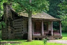 *Cozy Cabin / FROM OLD, SMALL, RUSTIC, COZY CABINS TO BEAUTIFUL NEW LOG HOMES - LOVE THEM ALL! / by Glenda Roslund