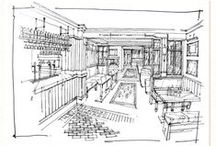 Illustration: Interior Sketches