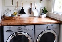 Laundry Room DIY's & Ideas / Laundry Room and Half Bath renovation inspiration.