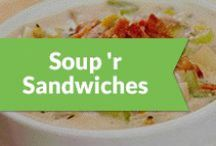 Soup 'r Sandwiches / What goes together better than soup and a sandwich. We've gathered together a board of soups and sandwiches that look amazing on their own, and can only be better when combined. / by Peapod Delivers