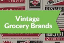 Vintage Grocery Brands / Grocery brands in the United States that have been around for a hundred years and are still popular today.