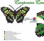 Beaded butterflies pattern / Beaded butterflies pattern, tutorial butterflies, seed beads butterflies