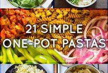 One Pot Meals / Recipes that are created and cooked in only one pot.