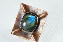 Handmade Jewelry | Rings / Handmade rings, beaded rings, statement rings, big rings, beads rings, copper rings and more -  https://www.etsy.com/shop/SzkatulkaAmiJewelry