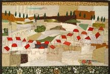 Medieval inspirations in textile art by Bozena Wojtaszek / modern with medieval twist