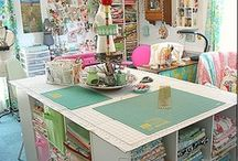 Craft and sewing spaces / by Debra Palmquist