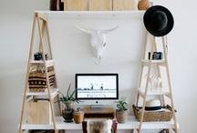 Workspace & Studio / Interior decorating ideas for home offices and other workspaces.