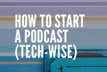 Podcasting / Starting a Podcast | Launching a Podcast | Finding the right podcast equipment | Finding great podcasts to listen to for runners, crafters, creatives, makers, mommies, storytellers and more. This is where I put all of my resources for Podcasting