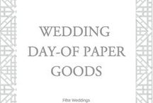 Wedding Day of Stationery