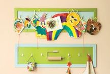 Displaying Kids Art / Ideas for displaying kids art and storing art supplies / by Kiwi Crate | Arts and Crafts for Kids