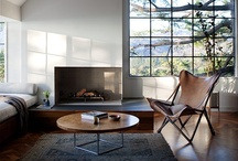 GG Loves Modern & Rustic / We are rehab addicts and would love to do over a modern loft-like cabin in the woods. 