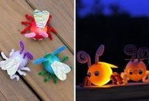 Cozy Glow In The Dark Crafts / The weather is getting cooler–and the days are getting short. Light up winter nights with glow-in-the-dark fun! There's something for every child, from flickering fireflies to constellation fun. / by Kiwi Crate | Arts and Crafts for Kids