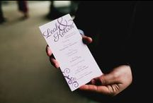 Typographic Wedding Ideas and Inspiration / Typographic wedding invitation and stationery inspiration and ideas