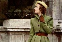 The 1940s. / Big shoulders, dramatic accents, platform shoes. / by Jessica Parker