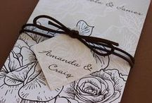 Romantic Wedding Inspiration / Vintage Roses Romantic Wedding Invitations and Stationery Inspiration
