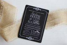 Chalkboard Wedding Ideas / Chalkboard style wedding ideas and invitations