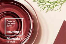 Romantic Red- 2015 Pantone Color of the Year / Marsala is Pantone's 2015 color of the year! On this board, you'll be able to connect with the earthy and natural styles associated with Marsala!