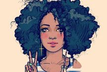 I am NOT my hair... / A collection of natural hair style ideas, natural hair care tips, recommendations, etc...  / by Kia Janai
