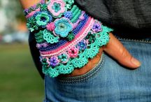 Haken arm en haarbanden/ crochet bracelets ans headbands