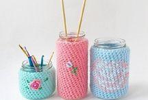 Haken potjes/ crochet jars