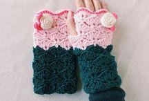 Haken polswarmers/ crochet wristwarmers