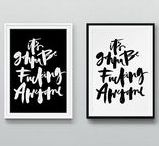 • PRINTS • / Wall decor and free prints... // free designs, downloadables, cute prints, black and white prints //