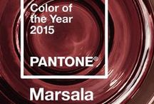 "Trending: 2015 COLOR OF THE YEAR  is.... drum roll ... MARSALA! / by ""Many Shades of Shabby"" by Devonia"