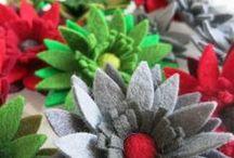 Kerst: Kerstversieringen / Kerstversieringen van vilt en andere materialen. Zelf maken of gewoon lekker aanschaffen!