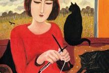 Knitting & Crochet / Needle work - that's sitting for creative people... / by Bev Madere