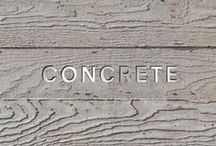 Concrete Solid / This board features all things concrete, as well as furniture, art and accessories that complement concrete.  / by Kay