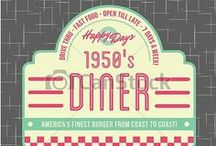 Dougies - A Trip Down Memory / Inspiration for a 1950s American Diner Themed birthday party for an 80th Birthday celebration