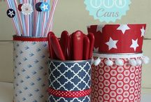 4th of July / Independence Day crafts, decorations, and party ideas.