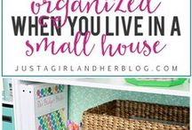 Organize Small Spaces / Maximize your small space with these organizational strategies and products