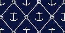 NAVY / Inspirações de looks e decoração com estampas NAVY, marinheiro e estilo náutico. Tons de azul, cinza e cores vibrantes para completar!