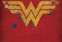 Wonder Woman / Uma coleção de ideias com estampas, obejtos, acessórios, moda e maquiagem sobre a Mulher Maravilha.