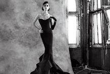 Evening / Beautifully embroidered, richly embellished, satin and silk, long and short: evening dresses for an evening out.   Gowns   Dresses   Haute Couture   Evening wear      Elie Saab   Valentino   Prada   Givenchy   McQueen   Zuhair Murad   etc.  