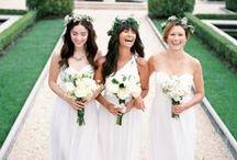 bride, bridesmaids and flower girl dresses / by Dana Miller