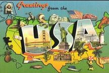 Greetings From Vintage Postcards - States / by Stateside Associates
