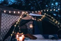 Movie Nights and Blanket Forts / Outdoor movie nights under the stars and blanket forts to sit on the gras.