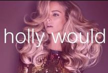 Holly Would / You're the type of girl who makes a six-inch stiletto statement wherever you go. Curls up frizz down.