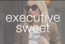 Executive Sweet / You know how to work killer straight hair – in and out of the boardroom. Blos before bros.