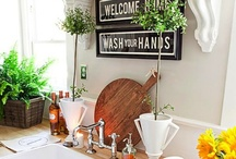 Home: Kitchens: Vintage & Eclectic, Mostly Neutral / So many kitchens, so little time.  When is a kitchen pure cottage, farmhouse, country, rustic, shabby chic - so many styles are melded together. / by Cynthia Secunda Daniel