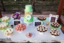 Dessert Bars {Kuba Kreations} / We love kreating all types of Custom Dessert Bars according to your liking from Mini Cookies to French Macarons and Mini Pies. Email Erin@kubakreations.com to plan your Wedding or Special Event!
