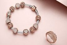 PANDORA Rose / Highlighting the beauty of sparkling stones and flattering all skin tones, the blush color of PANDORA Rose jewelry is the perfect contrast to the white sheen of silver and the golden glow of yellow gold.