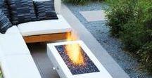 Lareiras & aquecedores exteriores / Ideias para lareiras e aquecedores de exteriores.